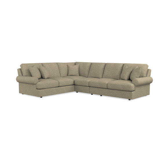 Sutton L-Shaped Sectional | Living Room Furniture | Bassett Furniture