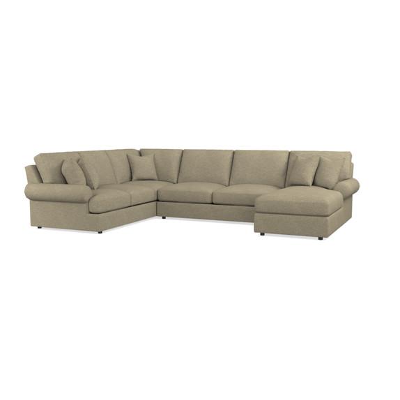 Sutton U-Shape Sectional Sofa | Living Room | Bassett Furniture
