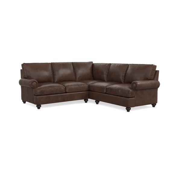 Small Leather L Shaped Sectional Bassett Home Furnishings