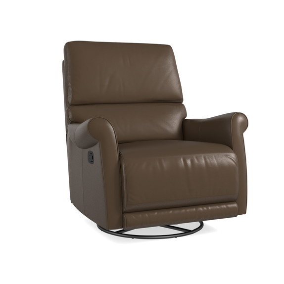 Swivel Glider Recliner ...  sc 1 st  Bassett Furniture & Brown Leather Swivel Recliner islam-shia.org