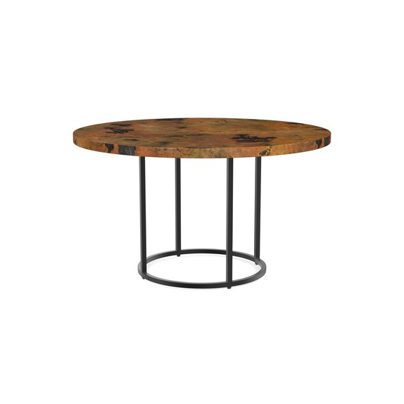 Custom Dining 54 Copper Table W Round Base